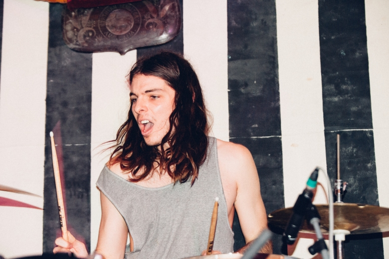 blake hart, drummer of many bands including HIDEOUS SUN DEMON