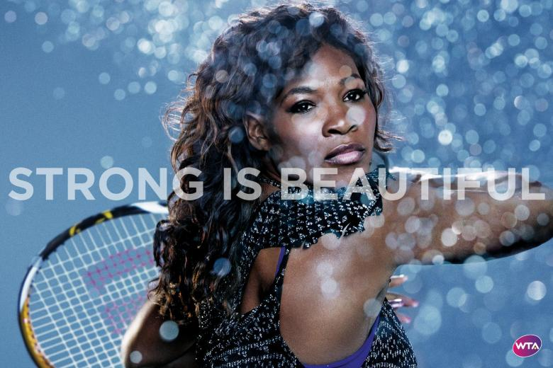 Serena Williams. Credit WTA